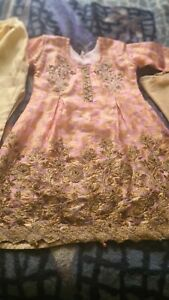 Girls Indian Asian Pakistani Wedding Eid Party Dress special occasion 9-10yr