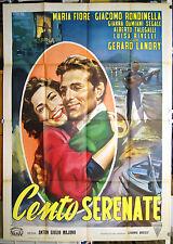 manifesto 4F film CENTO SERENATE Maria Fiore Giacomo Rondinella 1954