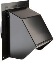 6 in. Wall Cap Round Ducts Range Hood Parts Ventilation Exhaust Fan Steel Black
