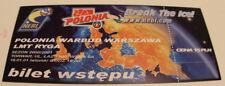 Ticket Basketball EC NEBL 2011 Polonia Warszawa LMT Riga Poland Latvia
