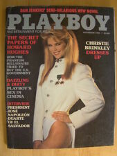 Original Playboy Magazine November 1984 Christie Brinkley, Sex in Cinema