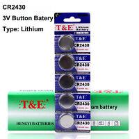 5pcs ECR2430 CR2430 3V Coin Button Cell Battery DL2430 BR2430 KL2430 KCR2430