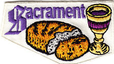 """""""SACRAMENT"""" - IRON ON EMBROIDERED PATCH - RELIGIOUS - CHURCH, CEREMONY"""