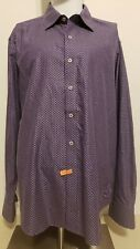 Robert Graham Long Sleeve Button Front Shirt Men 2XL Classic Fit Purple & Black