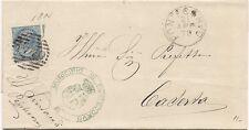 P8791   Frosinone, Pontecorvo, annullo numerale a sbarre, 1879