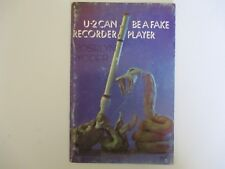 U-2 Can Be A Fake Recorder Player By Roselyn Yoder 1971 Vitg Instructions Music