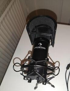 Auna MIC-900B USB Kondensator Mikrofon Popschutz und Standfuss