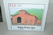 HO scale B.T.S. McCabe Lumber Co MACHINE SHOP logging train wood building KIT