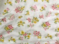 Vintage Cannon Royal Family 3Pc Twin Sheet Set - Floral - Fitted & 2 Cases