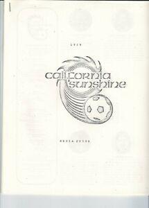 1979 California Sunshine media guide, soccer, ASL