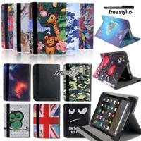 "Folio Leather Rotating Stand Cover Case For 7"" 8"" Amazon Kindle Fire Tablet +Pen"