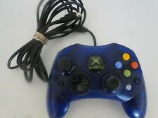 Original Xbox Controller Wired Blue S-Type Genuine Official Tested OEM #B2