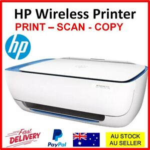 HP Wireless Printer DeskJet All-In-One Copy Scan Print Printing WITH STARTER INK