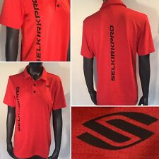 Awesome SELKIRK PRO Pickleball Polo Shirt ~ Red Adidas Climachill Racquet Sport