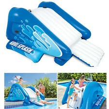 """Inflatable Water Slide Play Center Kids Summer Pool Activity 135"""" X 81"""" X 50"""""""