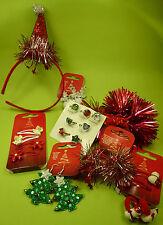 22 Teile Weihnachten Nikolaus Advent Kinder Mädchen Haarclips Haarreif Ring NEU