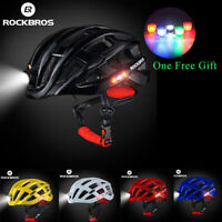 ROCKBROS Bike Ultralight Cycling Road Bike MTB Helmet With Light Size 57-62cm