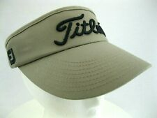 New Era Titleist FootJoy FJ Visor Hat Cap Golf Cotton Beige OSFM Strap Back