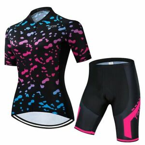 Quick-Dry bike clothing Women bicycle jersey set dress Summer outdoor sports
