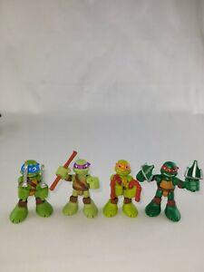 2014 Playmates TMNT Ninja Turtles Set of 4 Small Figures