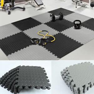 12/36pcs EVA Leaf Grain Floor Sport Protection Gym Mat Non-Slip Splicing RuAU