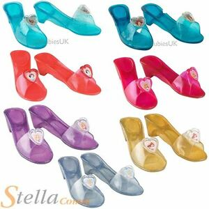Girls Disney Princess Jelly Shoes Fancy Dress Costume Fairytale Kids  Accessory
