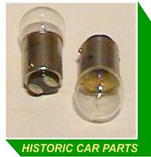NON-EARTHING TWIN CONTACT BULBS x 2 - 12v 5w Single Filament 1950-70s