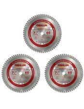 "Oshlun SBNF-072560 7-1/4""x60T Blade - 5/8""/Diamond Arbor - Non-Ferrous - 3 Pcs"