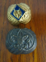 2 VINTAGE BOY SCOUT NECKERCHIEF SLIDES