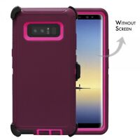 Plum For Samsung Galaxy Note 8 Defender Rugged Case Cover w(Clip Fits Otterbox)