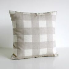 Shabby chic gingham CUSHION COVER, Made in UK #GIOA