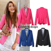AU Womens Pink Blazer Size 10 12 14 Office Jacket Slim Fit Long Sleeve RRP $40