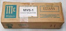 McIntosh MVS-1 Video Switcher NEW Opened Box