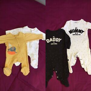 Unisex Sleepsuits Newborn And 0-3m M&S and Next