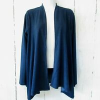 New $99 J Jill Pure Indigo Wrap Cardigan Top XS X Small Blue Lyocell Ocean Wash