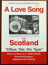 More details for a love song from scotland when you are near by c. john taylor – signed – 1988