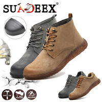 Mens Steel Toe Shoes Work Safety Boots Outdoor Sneakers Puncture Proof Footwear