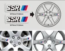 4PCS SSR 3-Color Strips Type-C Car Auto Wheel Sticker Emblem Decal Accessories