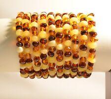 Lot of 10 wholesale Genuine Baltic amber bracelet - multicolor style c-2339