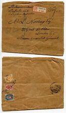 Russia 1909 GIORNALE Wrapper registrato per GB consolare Vyborg Carelia