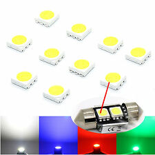 10X 5050 SMD LED S, 3-Chip/PLCC6 Highpower White Cold White LED Smds