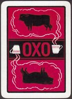 Playing Cards Single Card Old Antique Wide OXO Advertising Art BULL STEAMING CUP