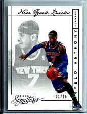 2013-14 Panini Signatures Basketball Carmelo Anthony D # 01/15  New York Knicks