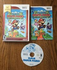 Super Paper Mario (Nintendo Wii, 2007) CIB Complete with Manual and Case