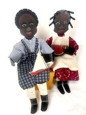 Edna Oar Young Shadow Dancer African American Boy Girl Watermelon Sailboat Metal