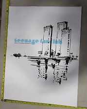 Rock Roll Concert Poster Teenage Fanclub Rosebuds Small Stacks S/N LE #211