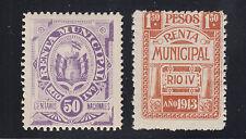 Argentina, Cordoba, Rio Cuarto, Forbin 9 + 1913 1.50p Rent Tax Fiscals