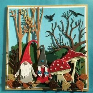 Metal Cutting Dies Craft Scrapbooking Embossing Paper Card Christmas Dwarf Gnome