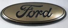 """9"""" Dark Gold & Black FORD 04-14 F150 Front Grille Emblem Oval Decal 3D Badge"""