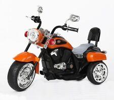 Harley-Davidson Estilo Niños 3 rueda Chopper 6 V Motor Eléctrico Trike Naranja